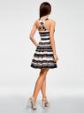 Платье полосатое oodji для женщины (черный), 21900325/43012/2912S