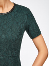 Платье приталенное кружевное oodji #SECTION_NAME# (зеленый), 11900213/45991/6C00L - вид 5