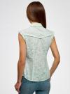 Блузка из ткани деворе oodji #SECTION_NAME# (зеленый), 11405092-4/26528/6500N - вид 3