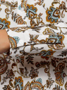 Блузка вискозная А-образного силуэта oodji #SECTION_NAME# (белый), 21411113B/42540/1231E - вид 5