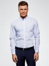 Рубашка принтованная из хлопка oodji для мужчины (синий), 3B110027M/19370N/1078G - вид 2