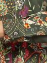 Блузка свободного силуэта с цветочным принтом oodji #SECTION_NAME# (зеленый), 21411109/46038/6819F - вид 5