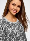 Свитшот принтованный с круглым вырезом oodji для женщины (серый), 14807021-1/46919/2329E - вид 4