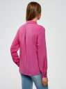 Блузка базовая из вискозы oodji #SECTION_NAME# (фиолетовый), 11411136B/26346/4700N - вид 3