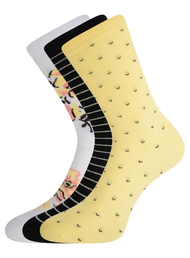 Комплект высоких носков (3 пары) oodji для женщины (разноцветный), 57102902T3/47613/26