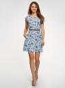 Платье вискозное без рукавов oodji #SECTION_NAME# (белый), 11910073B/26346/1270F - вид 2