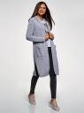 Кардиган с капюшоном и накладными карманами oodji #SECTION_NAME# (серый), 63205252/48953/2000N - вид 6