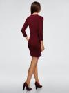 Платье вязаное с рукавом 3/4 oodji для женщины (красный), 63912222-2B/45109/4901N - вид 3