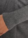 Кардиган без застежки с поясом oodji #SECTION_NAME# (серый), 73212237-1/18715/2500M - вид 5