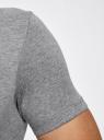 Футболка хлопковая с принтом oodji #SECTION_NAME# (серый), 5L611040I/44135N/2310P - вид 5