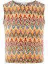 Топ из фактурной ткани с этническим узором oodji #SECTION_NAME# (разноцветный), 15F05004/45509/556DE