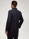 Пальто однобортное oodji #SECTION_NAME# (синий), 1L314012M/50219N/7975M - вид 3