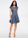 Платье джинсовое на молнии oodji #SECTION_NAME# (синий), 12909050/46684/7000W - вид 2