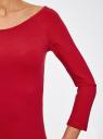 Платье облегающее с вырезом-лодочкой oodji #SECTION_NAME# (красный), 14017001-6B/47420/4500N - вид 5