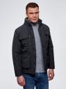 Куртка с накладными карманами oodji #SECTION_NAME# (синий), 1L411003M/34716N/7900N - вид 2