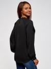 Блузка из струящейся ткани с металлическим украшением oodji #SECTION_NAME# (черный), 21414004/45906/2900N - вид 3