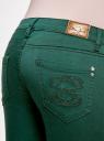 Джинсы skinny oodji для женщины (зеленый), 12103120/11921/6900N