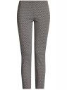 Брюки облегающие из эластичной ткани oodji для женщины (серый), 11707116-1/31266/3379G