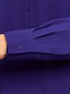 Блузка базовая из вискозы oodji #SECTION_NAME# (синий), 21412129-1/24681/7500N - вид 5