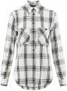 Рубашка клетчатая из вискозы oodji #SECTION_NAME# (белый), 13L11007/47701/1229C