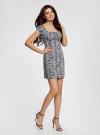 Платье хлопковое со сборками на груди oodji #SECTION_NAME# (серый), 11902047-2B/14885/1029L - вид 6