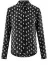 Блузка из струящейся ткани oodji #SECTION_NAME# (черный), 11400368-3/32823/2912F