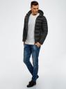 Куртка базовая с капюшоном oodji для мужчины (черный), 1B112008M/25278N/2900N