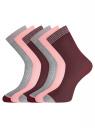 Комплект из шести пар носков oodji #SECTION_NAME# (разноцветный), 57102908T6/15430/3 - вид 2