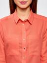 Рубашка хлопковая свободного силуэта oodji #SECTION_NAME# (красный), 11411101B/45561/4300N - вид 4
