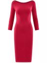 Платье облегающее с вырезом-лодочкой oodji #SECTION_NAME# (красный), 14017001-6B/47420/4901N