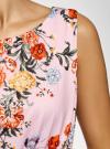 Платье макси с завязками на талии oodji #SECTION_NAME# (розовый), 24005137-1/46943/4019F - вид 5