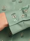 Блузка вискозная А-образного силуэта oodji #SECTION_NAME# (зеленый), 21411113B/26346/6529F - вид 5