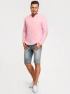Рубашка льняная без воротника oodji #SECTION_NAME# (розовый), 3B320002M/21155N/4000N - вид 6