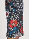 Платье трикотажное с вырезом-капелькой на спине oodji #SECTION_NAME# (черный), 24001070-5/15640/2945F - вид 5