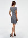 Платье трикотажное с воланами oodji #SECTION_NAME# (разноцветный), 14011017/46384/1079F - вид 3