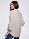 Рубашка свободного силуэта с удлиненной спинкой oodji #SECTION_NAME# (серый), 13K11002B/45387/2310S - вид 3