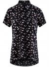 Блузка из вискозы с нагрудными карманами oodji #SECTION_NAME# (черный), 11400391-3B/24681/2912Q