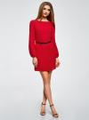 Платье из шифона с ремнем oodji #SECTION_NAME# (красный), 11900150-5B/32823/4500N - вид 2