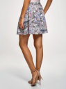 Юбка вискозная с принтом oodji для женщины (розовый), 11606036/33573/4B75E