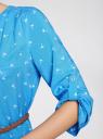 Платье вискозное с ремнем oodji #SECTION_NAME# (синий), 11900180B/42540/7510Q - вид 5