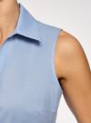 Рубашка базовая без рукавов oodji #SECTION_NAME# (синий), 14905001-1B/12836/7001N - вид 5