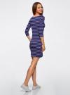 Платье трикотажное базовое oodji #SECTION_NAME# (синий), 14001071-2B/46148/7975S - вид 3
