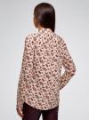 Блузка из вискозы с воротником-стойкой oodji #SECTION_NAME# (бежевый), 21411063-3B/48458/3345F - вид 3