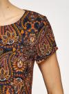 Платье прямое базовое oodji #SECTION_NAME# (коричневый), 22C01001-1B/45559/2955E - вид 5