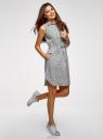Платье хлопковое на кулиске oodji для женщины (белый), 11901147-5B/42468/3029F