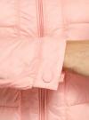 Куртка стеганая с круглым вырезом oodji для женщины (розовый), 10203050-2B/47020/4001N - вид 5