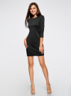 Платье с металлическим декором на плечах oodji #SECTION_NAME# (черный), 14001105-3/18610/2900N - вид 2