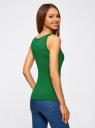 Майка базовая oodji для женщины (зеленый), 14315002B/46154/6E00N