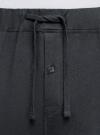 Брюки домашние из хлопка oodji для мужчины (черный), 7B401002M/47885N/2900N - вид 4