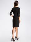 Платье трикотажное с рукавом 3/4 oodji #SECTION_NAME# (черный), 24001100/42408/2900N - вид 3